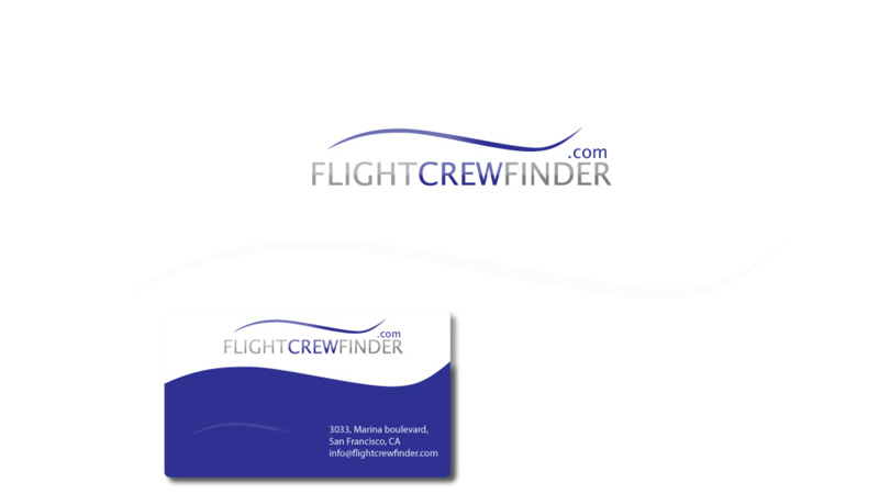 Flight crew finder logo & business card design