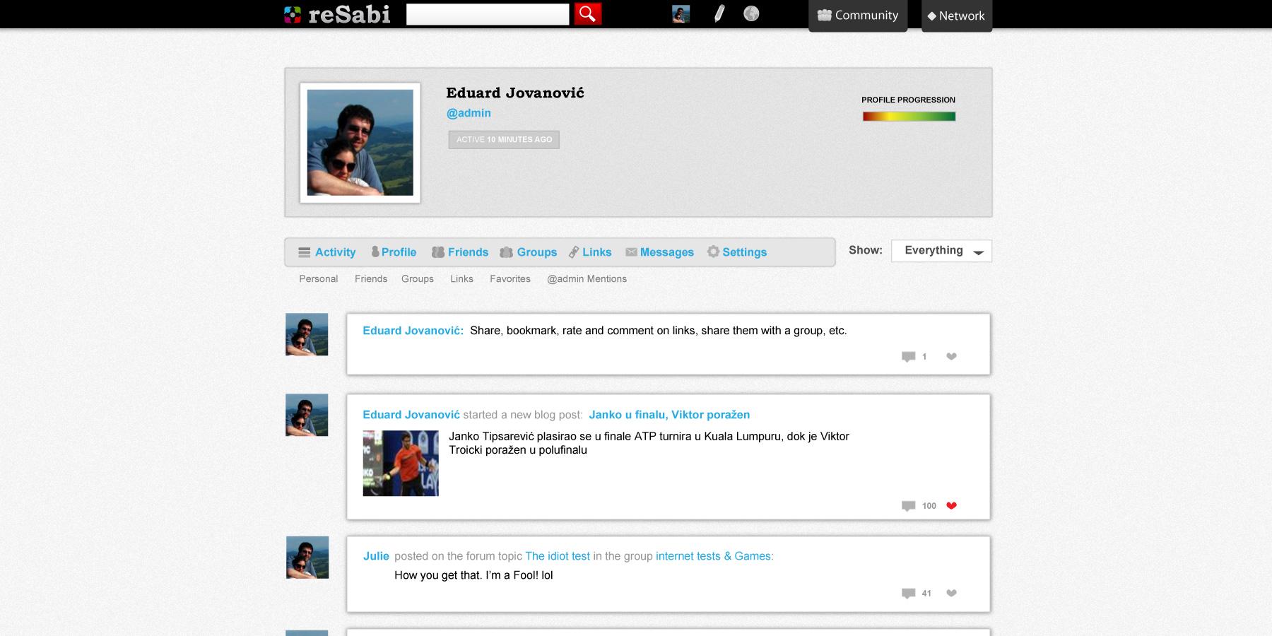 reSabi Club Memeber timeline interface design