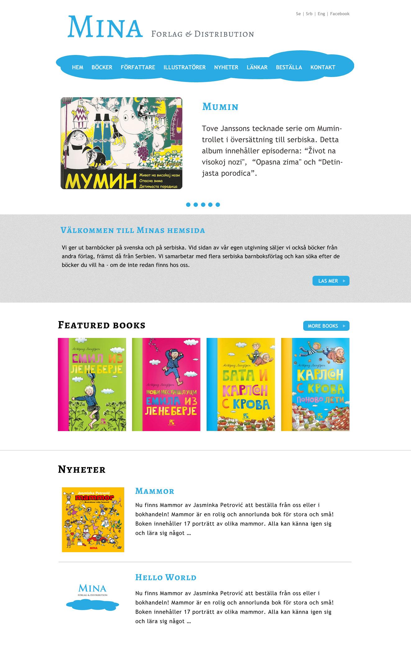 Mina home page