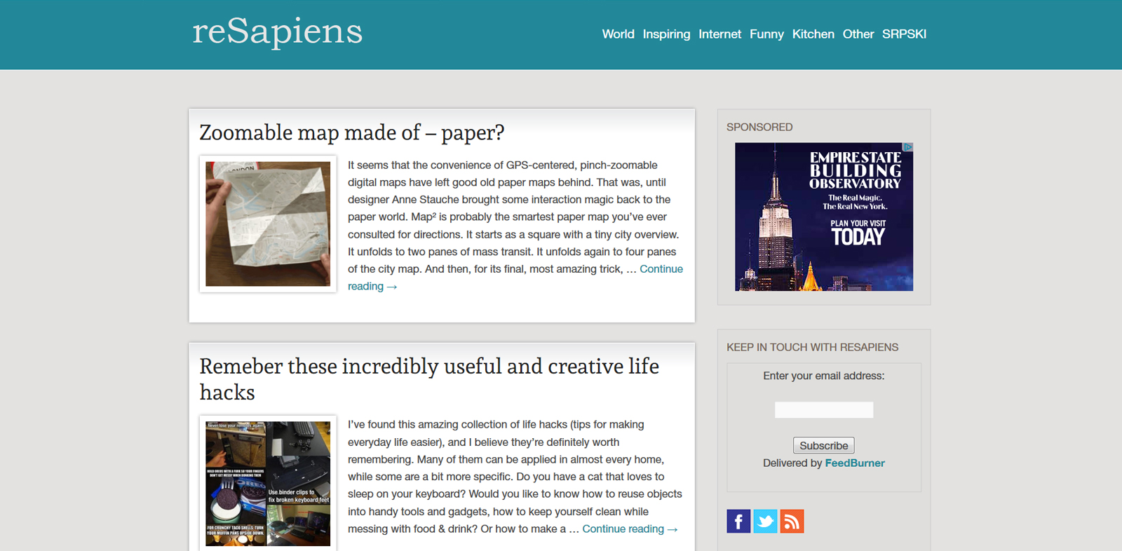 reSapiens blog screenshot